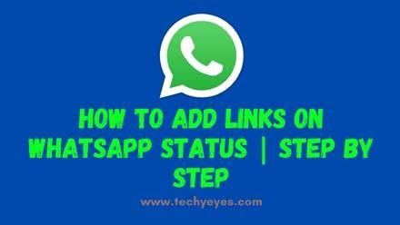 Add Links on Whatsapp Status